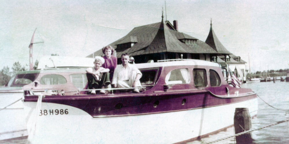Old photo of a yacht