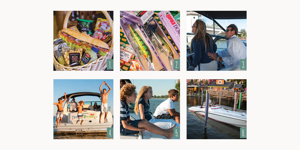 Boating collage
