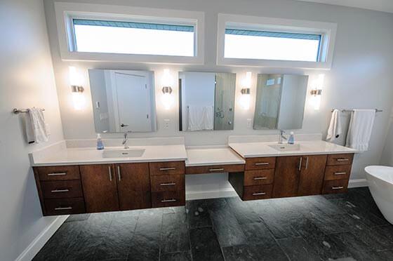Prairie-style restroom